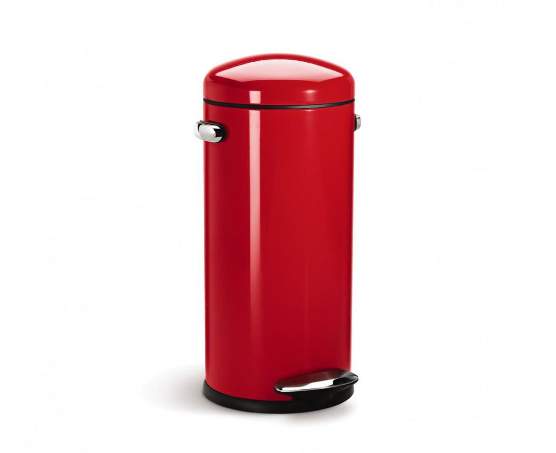 Image of: Red Kitchen Garbage Cans