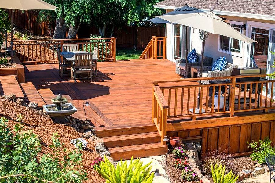 Image of: Redwood Decking Ideas