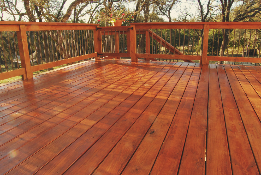 Image of: Redwood Decking Pictures