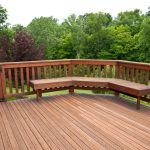 Redwood Decking with Bench
