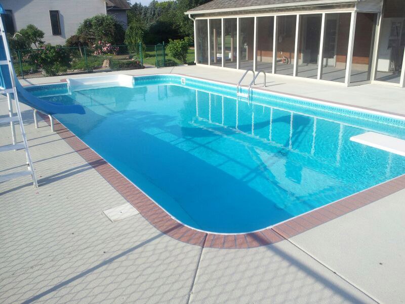Image of: Resurface Pool Deck Design