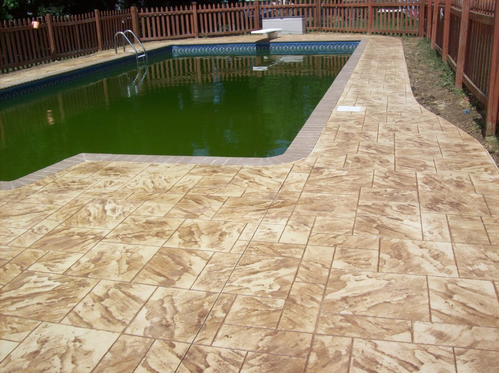 Image of: Resurface Pool Deck Style