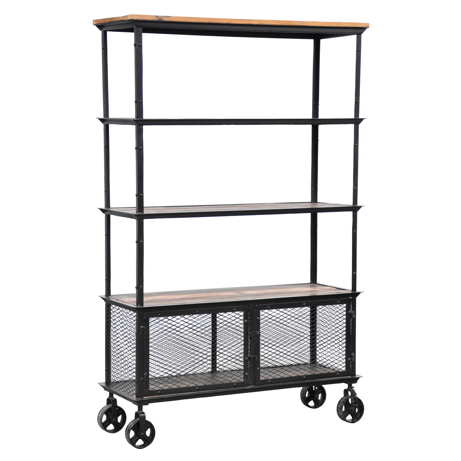 Image of: Rolling Bookcase Design