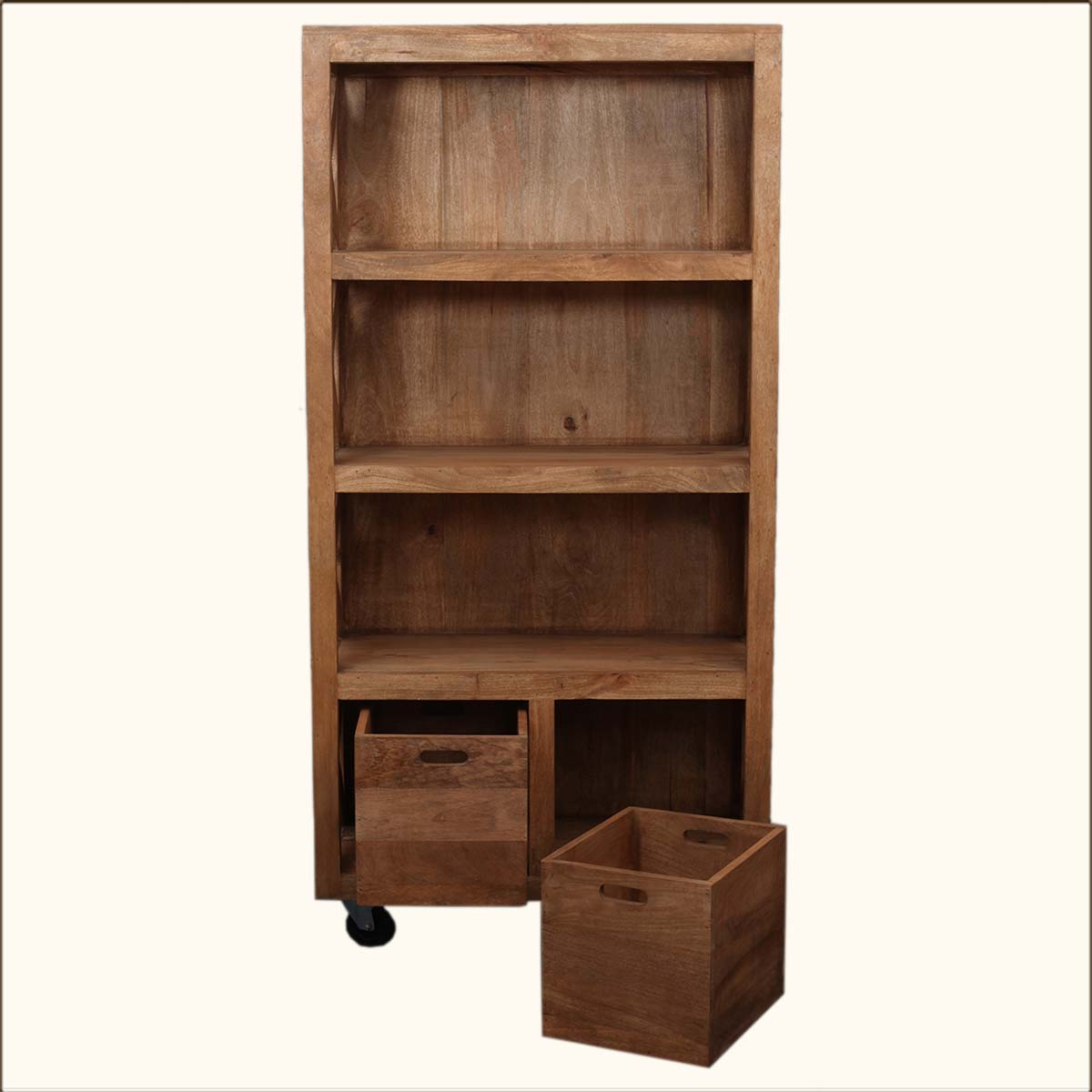Image of: Rolling Bookcase Image