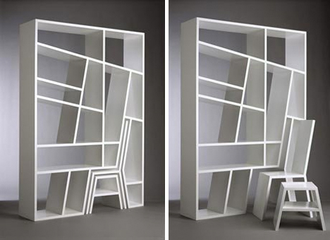 Image of: Room divider and bookcase