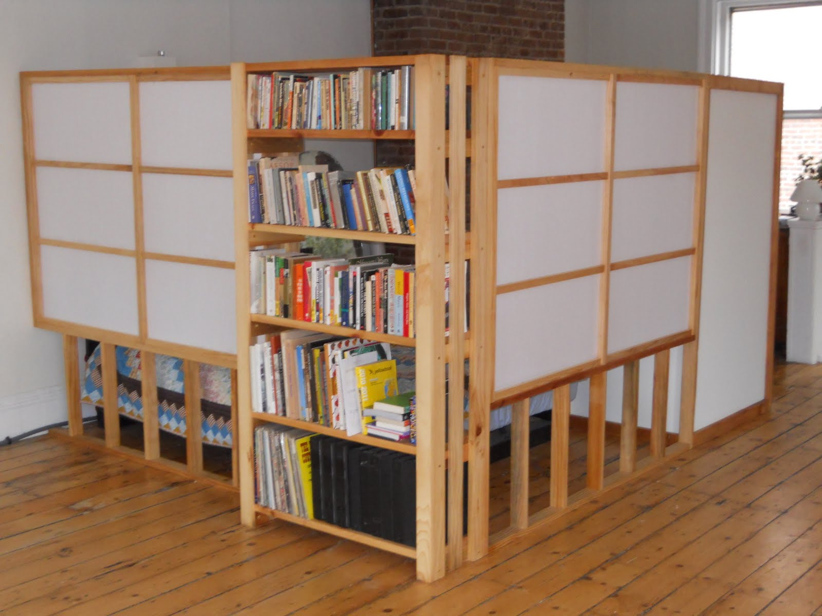 Image of: Room divider bookcase white