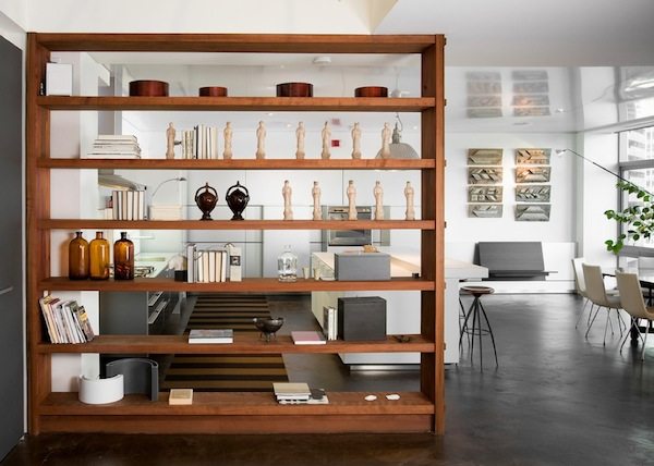 Image of: Room divider bookcases