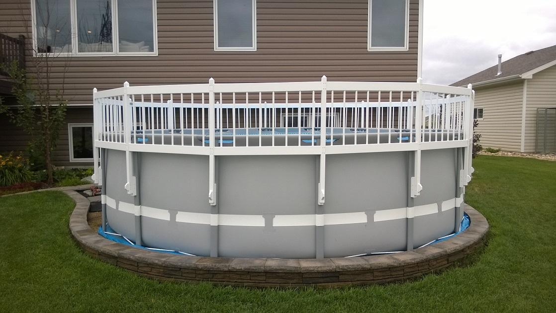 Image of: Round Above Ground Pool Fence