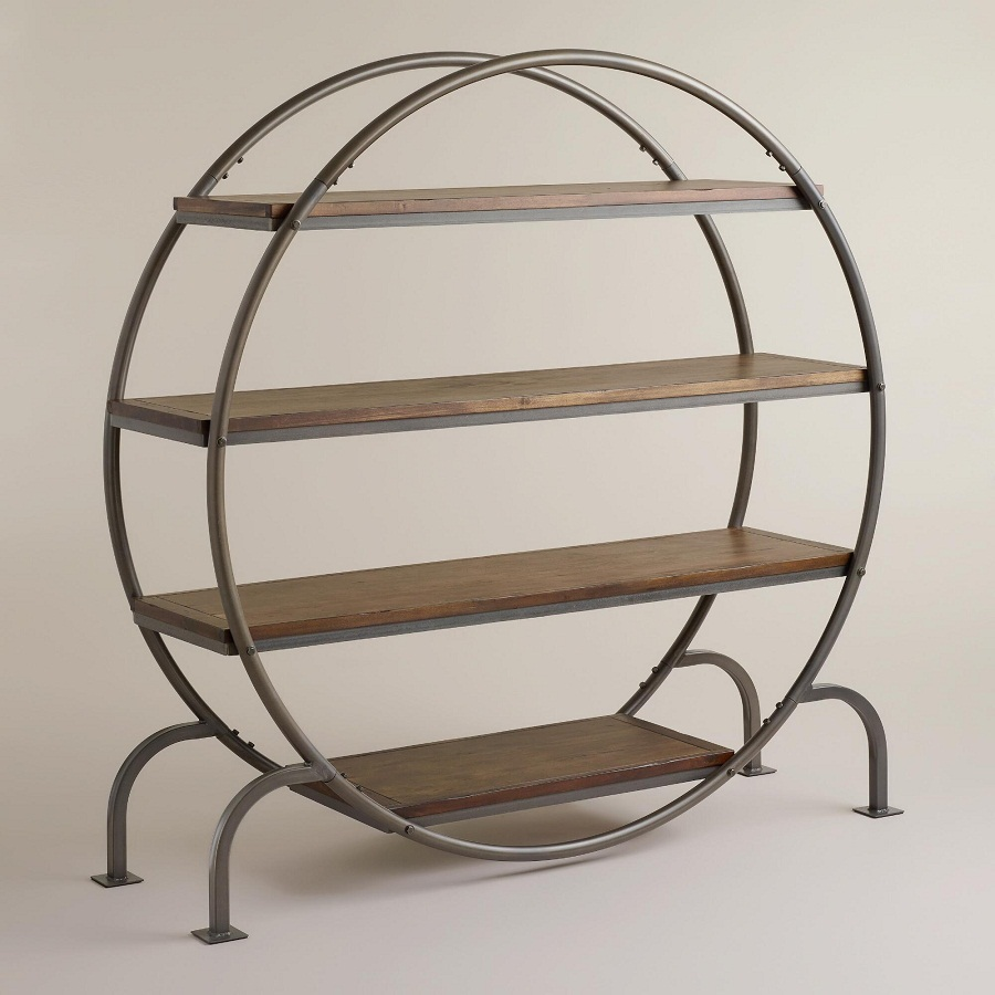 Image of: Round Bookcase Designs