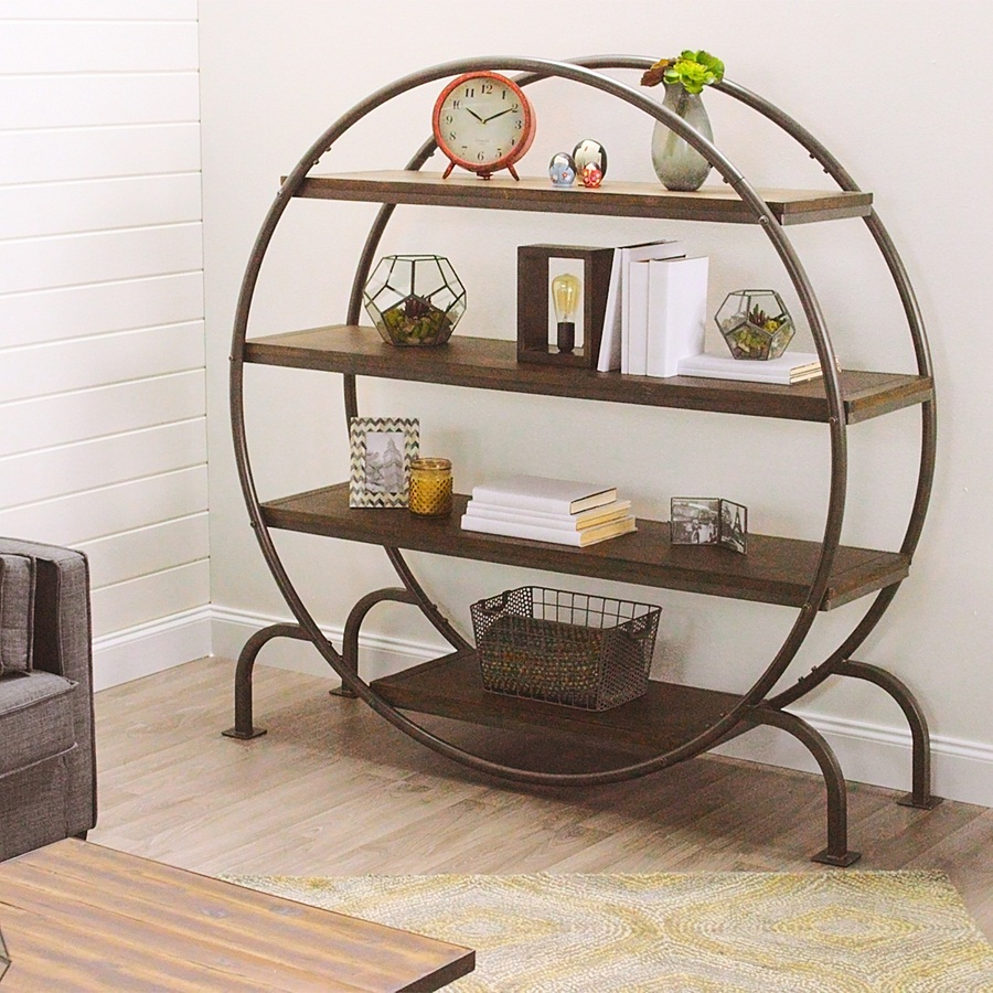 Image of: Round Bookcase Shapes