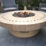 Round Outdoor Propane Fire Pit