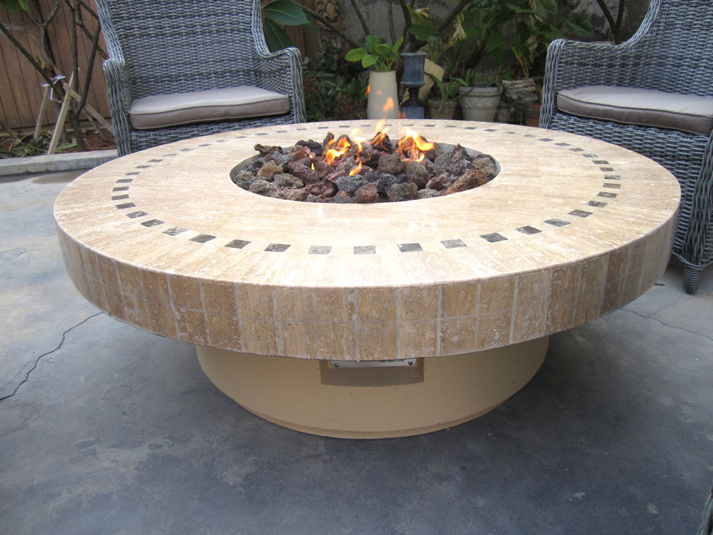 Image of: Round Outdoor Propane Fire Pit