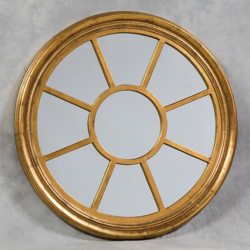 Image of: Round Wall Mirror Gold