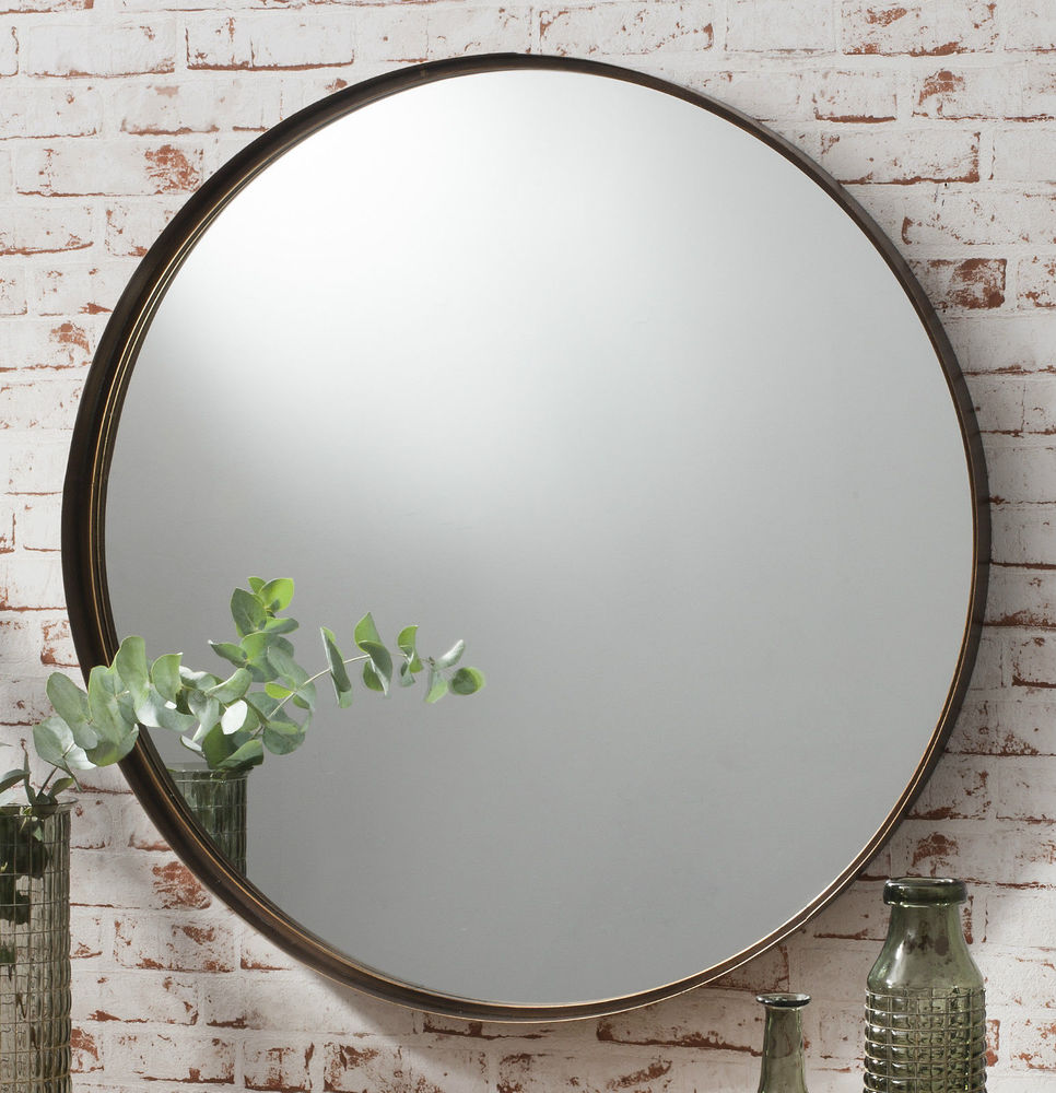 Image of: Round Wall Mirror Large