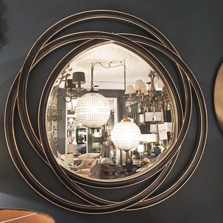 Image of: Round Wall Mirror Set