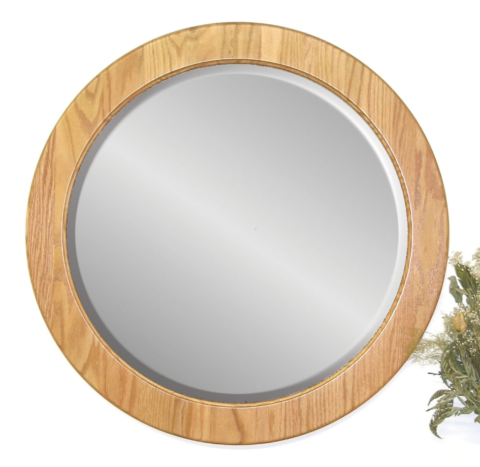 Image of: Round Wall Mirror with Rope