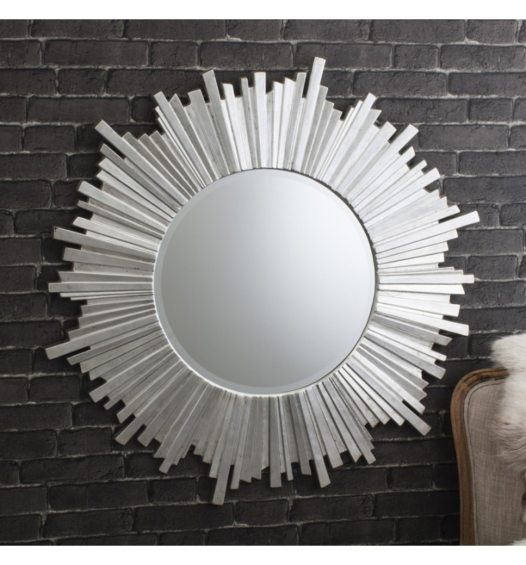 Image of: Round Wall Mirrors for Living Room