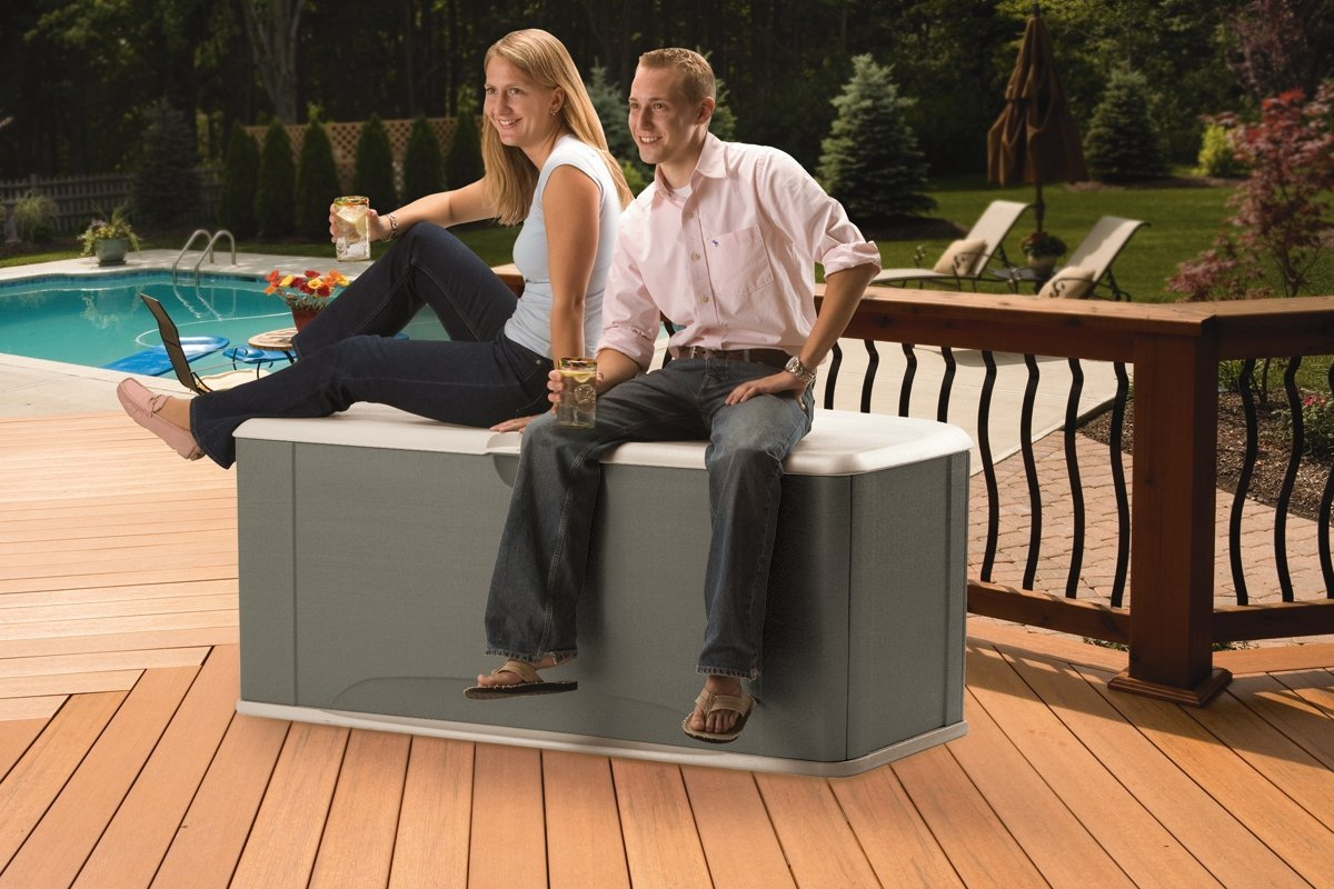 Image of: Rubbermaid Deck Storage Bench