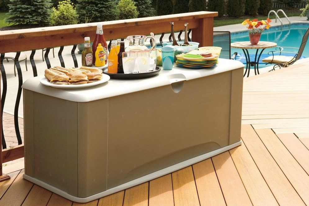 Image of: Rubbermaid Deck Storage Bins