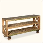 Rustic Rolling Bookcase