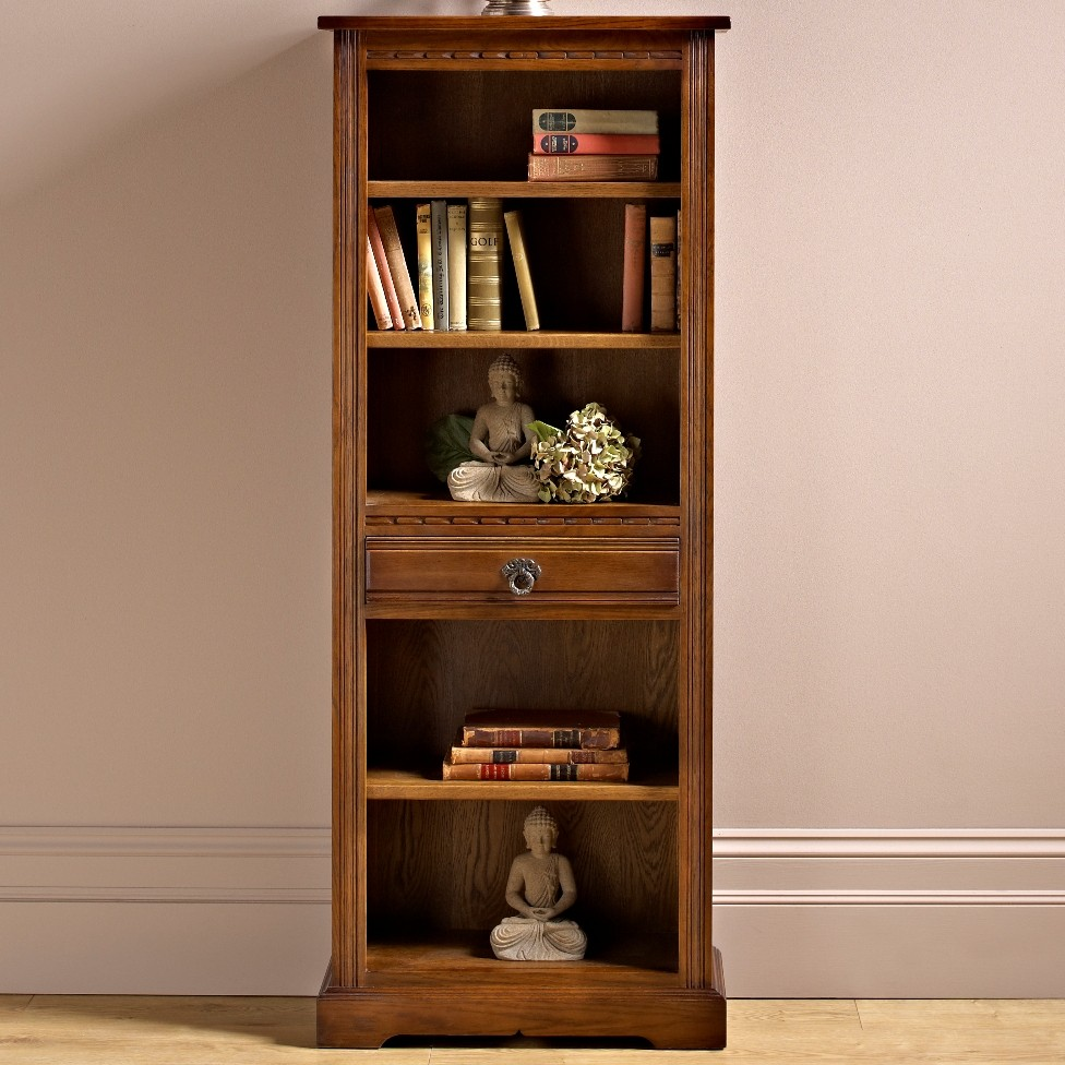 Image of: Rustic narrow bookcase