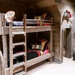 Rustic themed bedroom Stairs