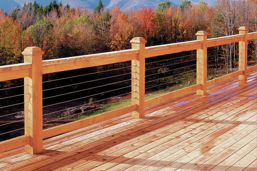 Image of: Safety Wire Mesh Deck Railing