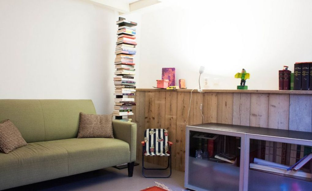 Image of: Sapiens bookcase apartment therapy
