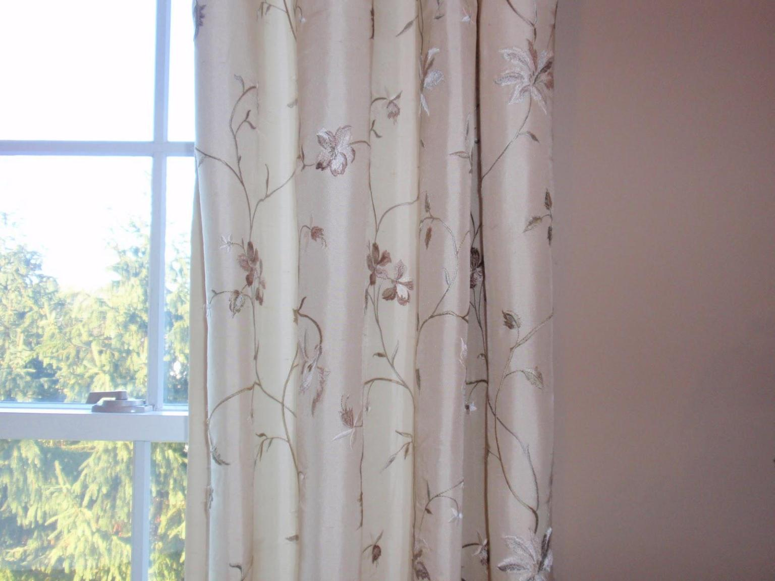 Image of: Satin Curtains And Drapes