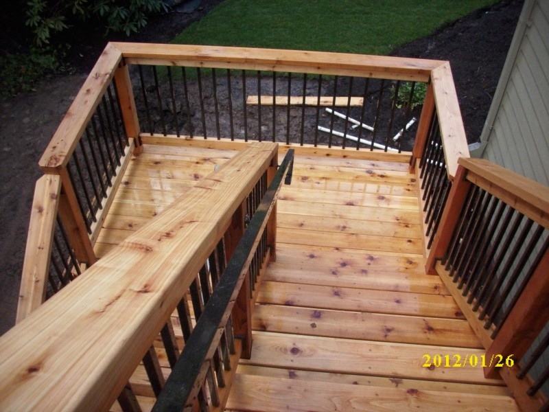 Image of: Second Metal Balusters For Deck
