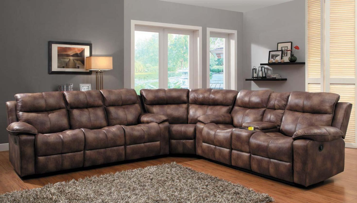 Image of: Sectional Sofas With Recliners And Chaise