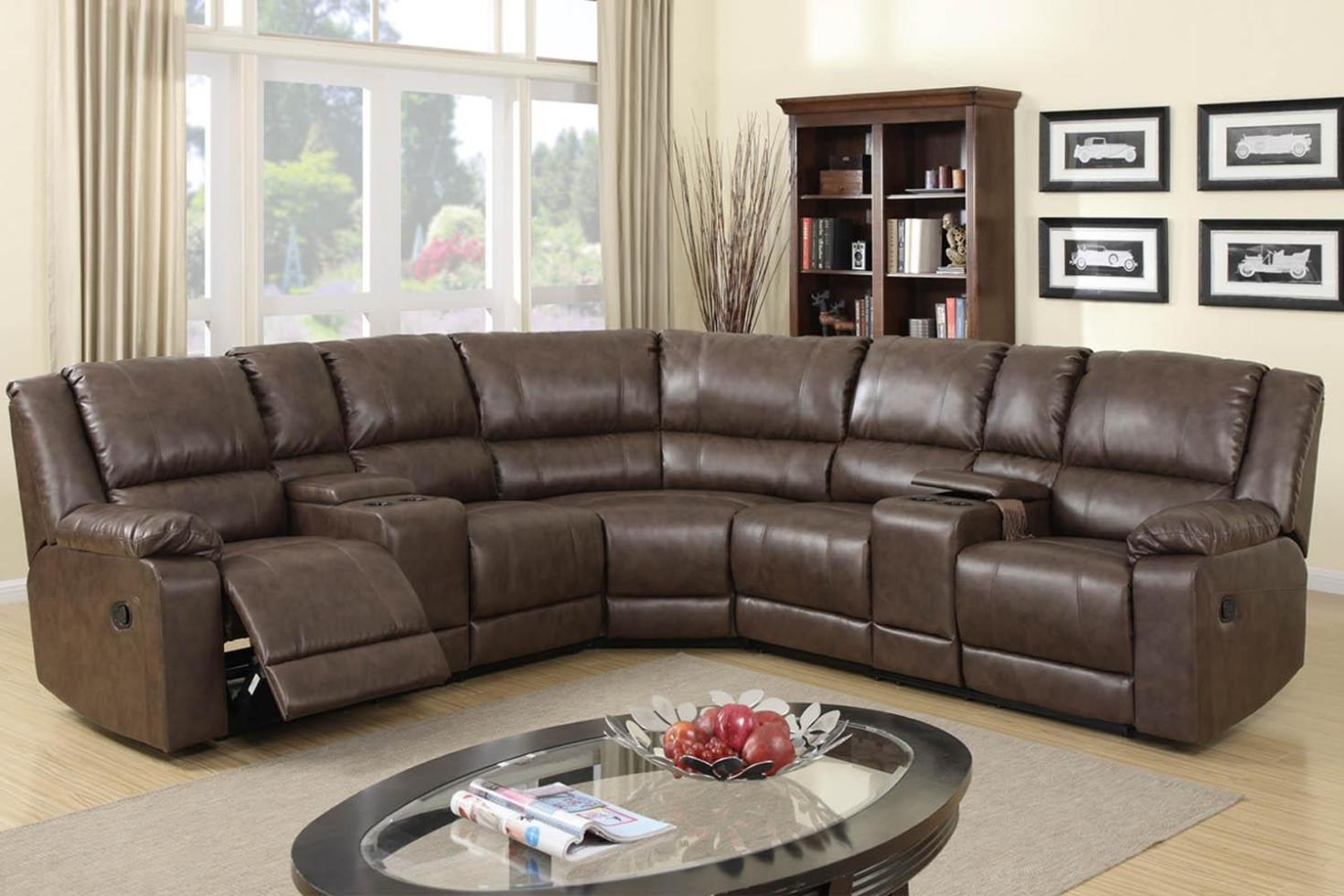 Image of: Sectional Sofas With Recliners