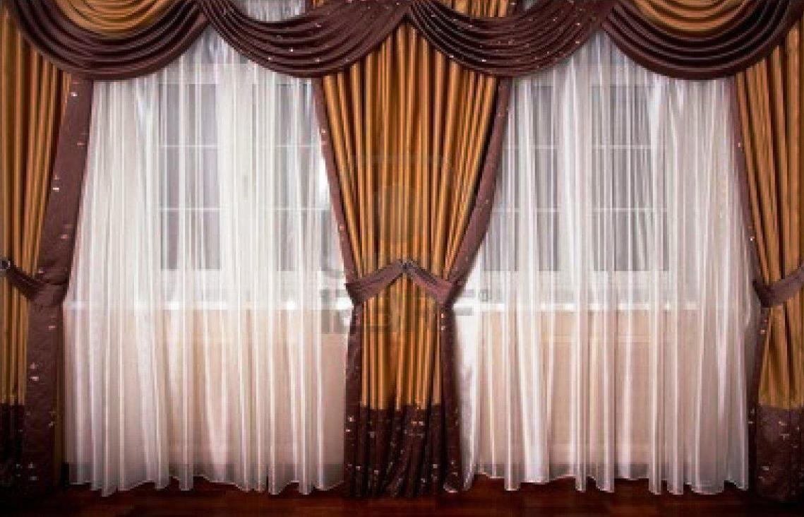 Image of: Silk Curtains Background