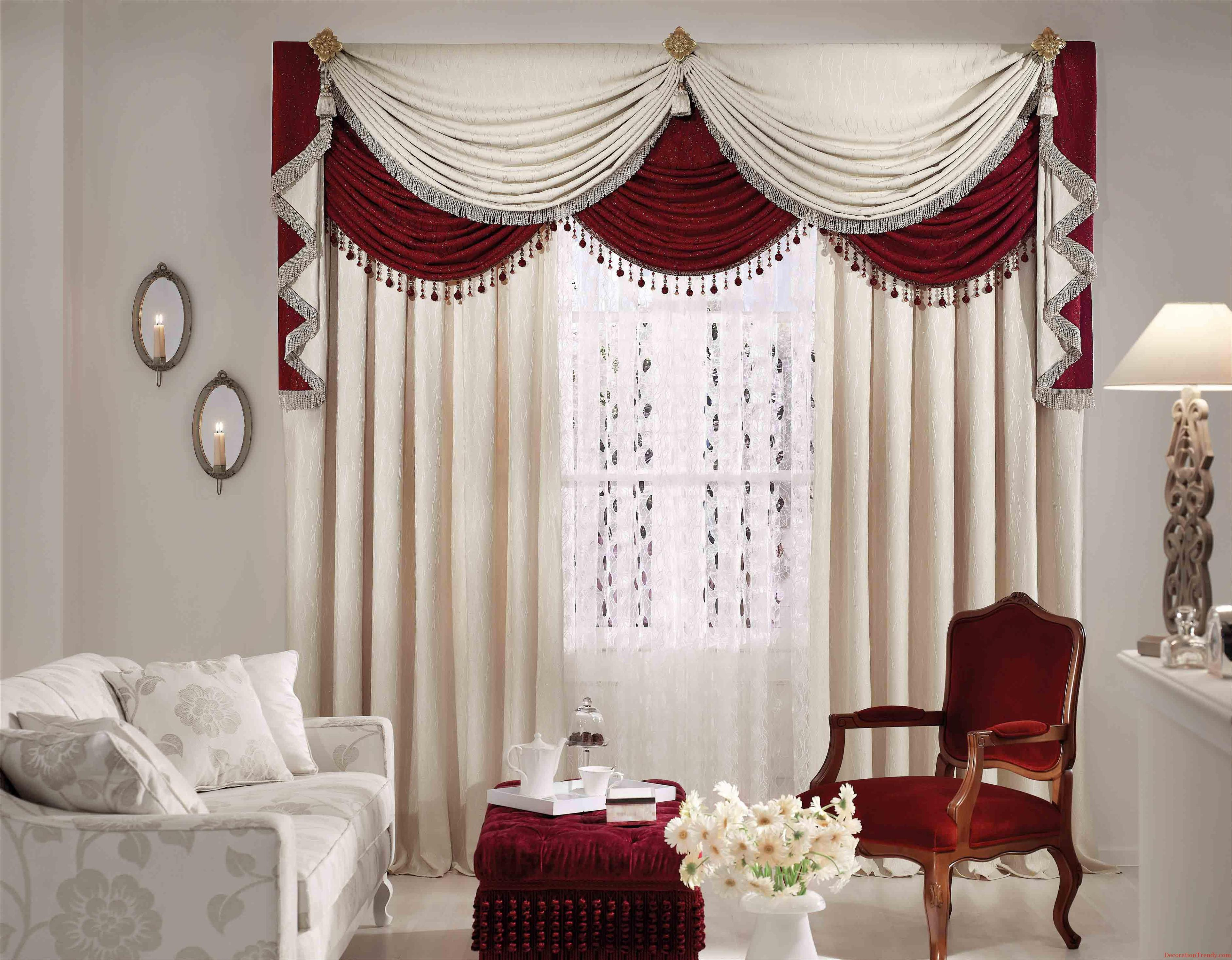 Image of: Silk Curtains For Living Room