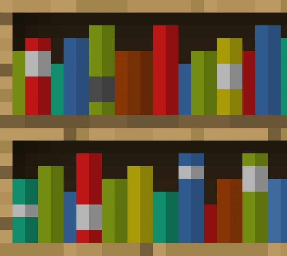 Image of: Simple Bookcase Minecraft