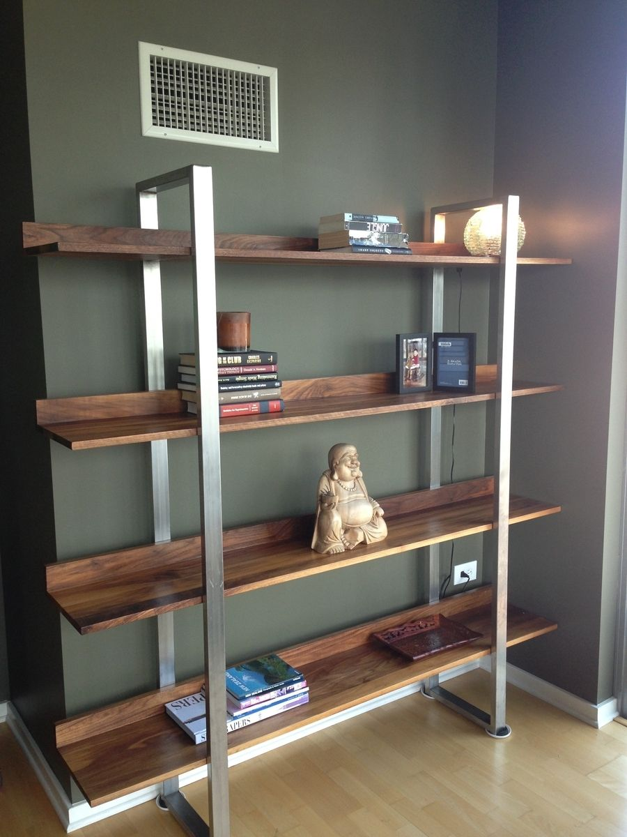 Image of: Simple Steel Bookcase
