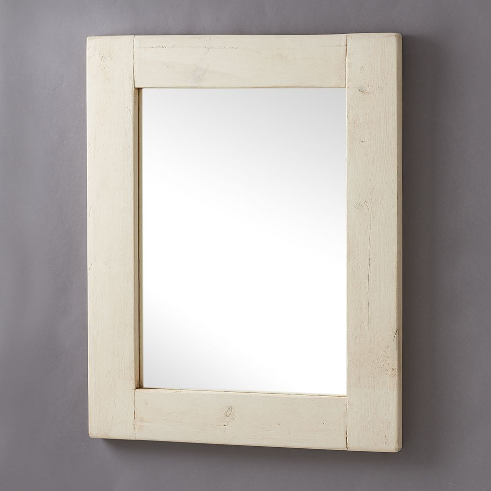 Image of: Simple White Frame Mirror