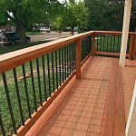 Simple Wrought Iron Deck Railing
