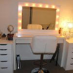 Sit Down Vanity with Lighted Mirror