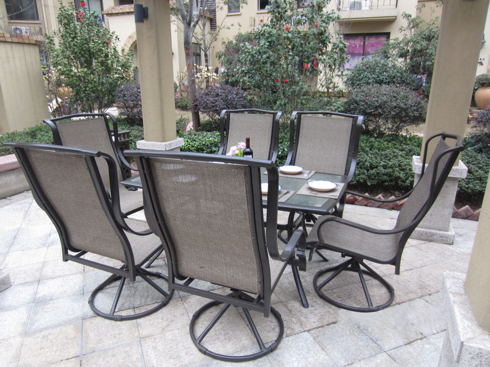Image of: Sling Patio Chairs Furniture