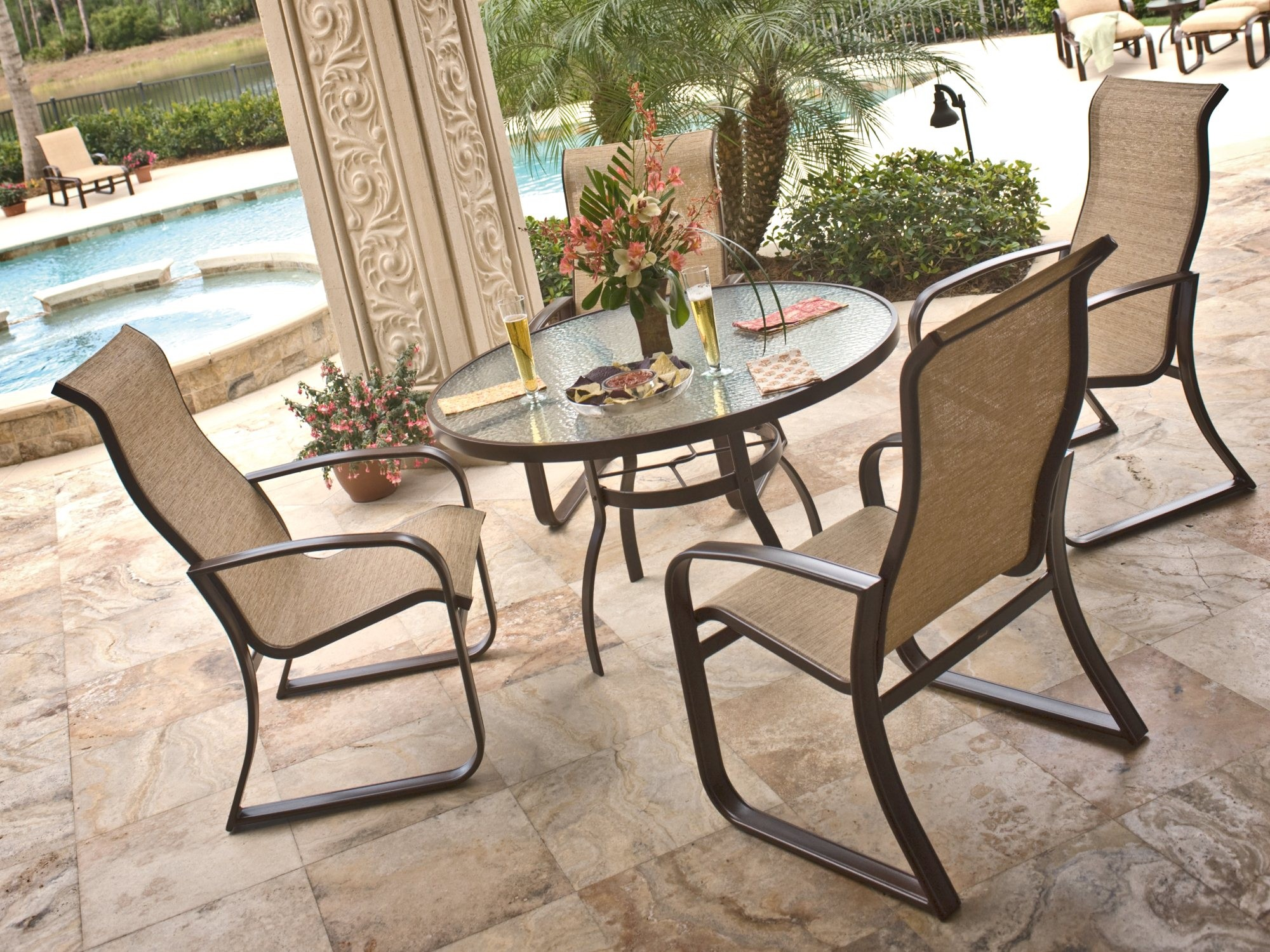 Sling Patio Chairs Set
