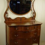 Small Antique Dresser With Mirror