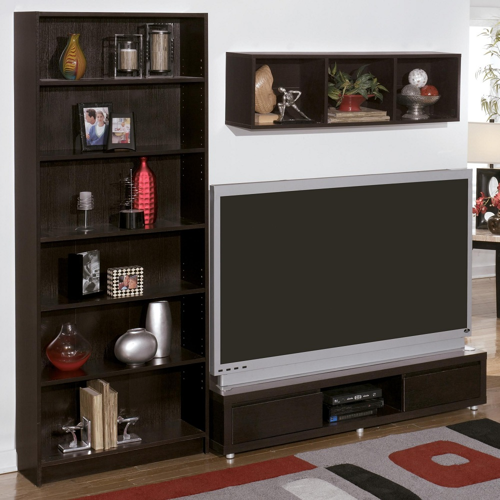 Image of: Small Bookcase Tv Stand