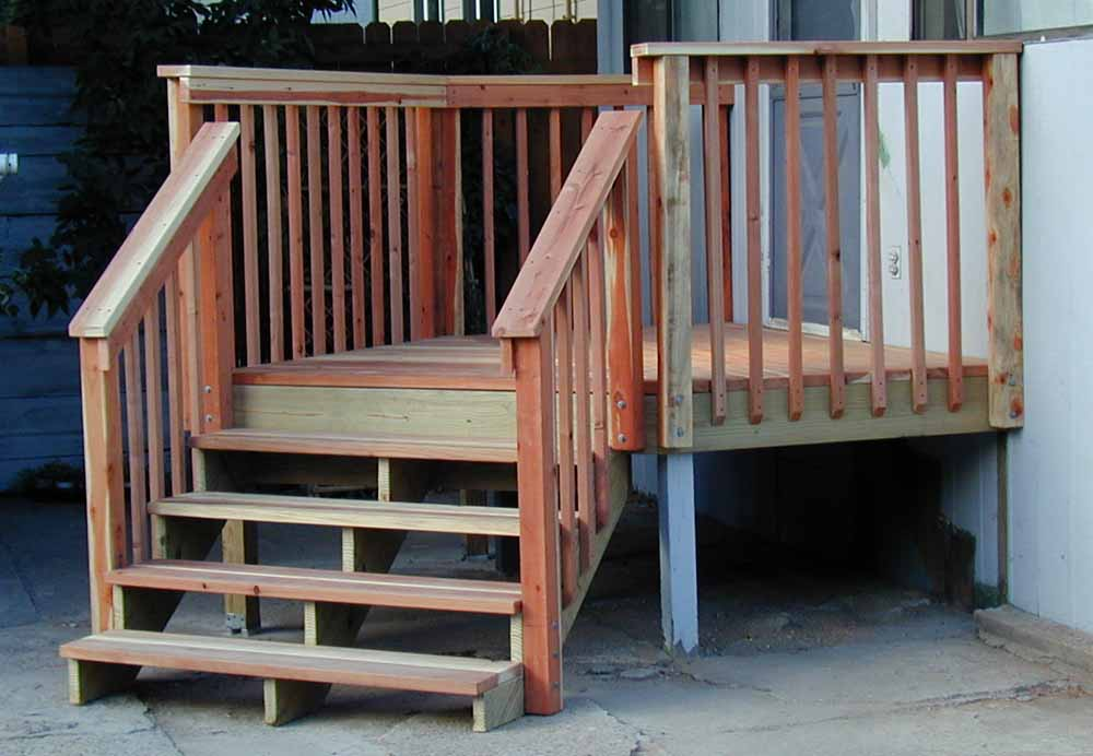 Image of: Small Deck Stair Railing