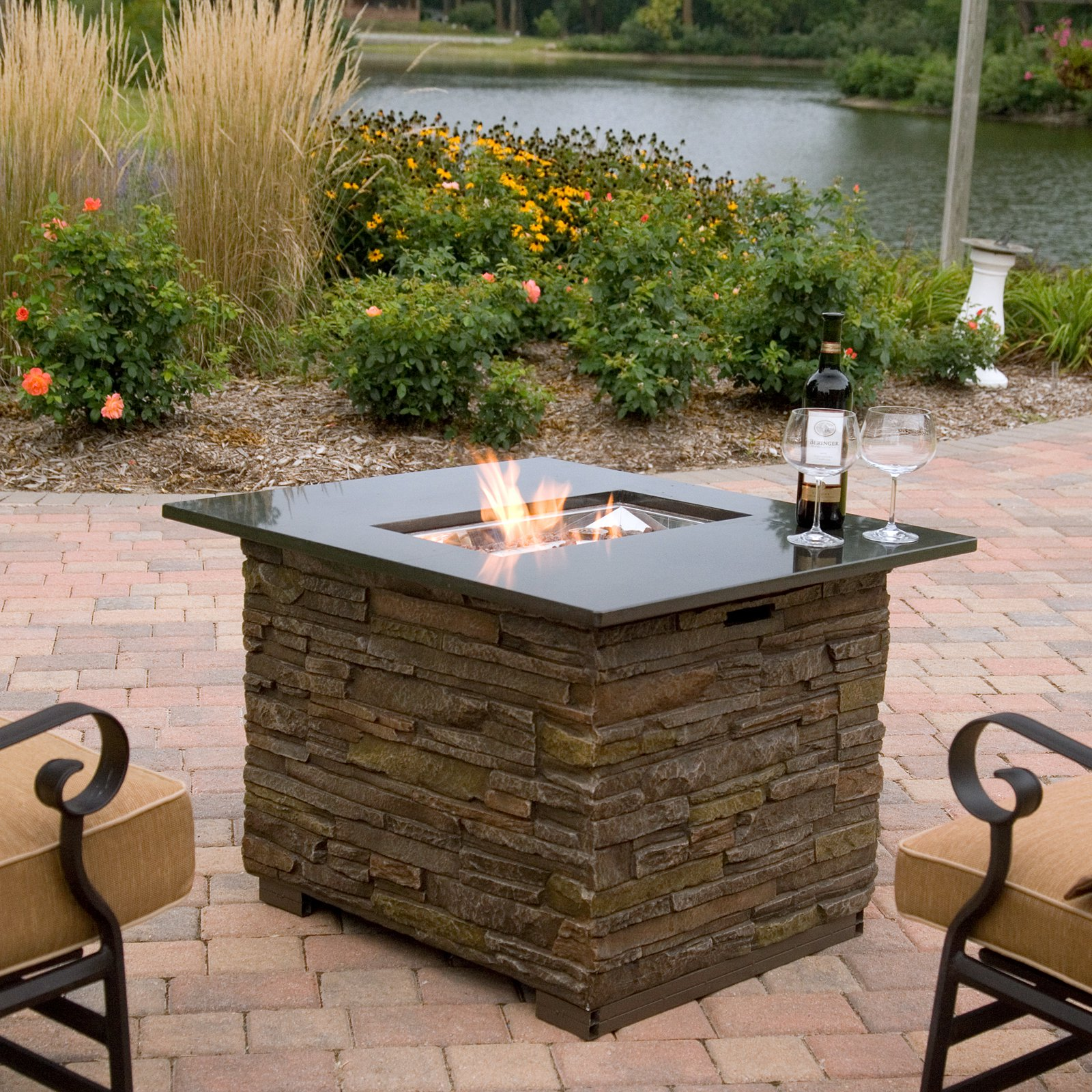Image of: Small Outdoor Propane Fire Pit