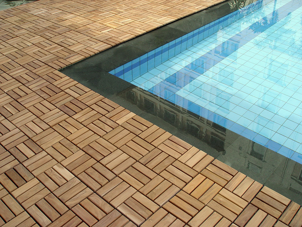 Image of: Snap Deck Tiles Pool