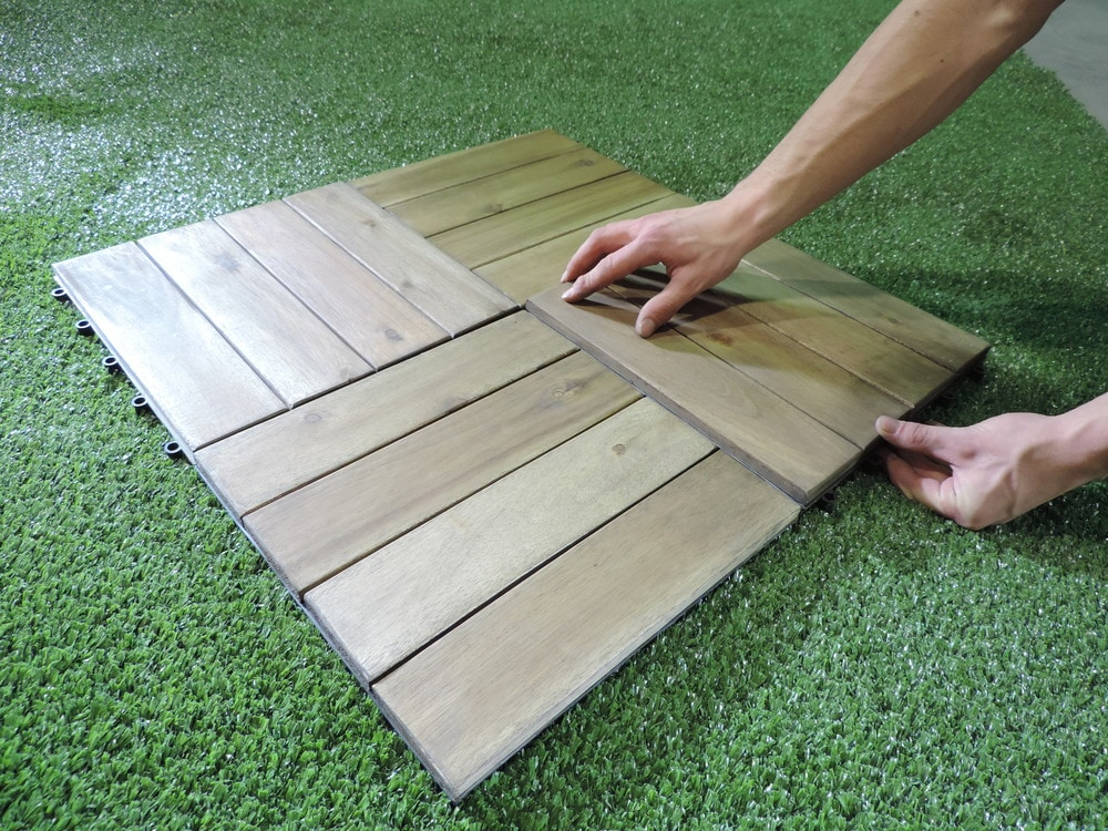 Image of: Snap Deck Tiles Size