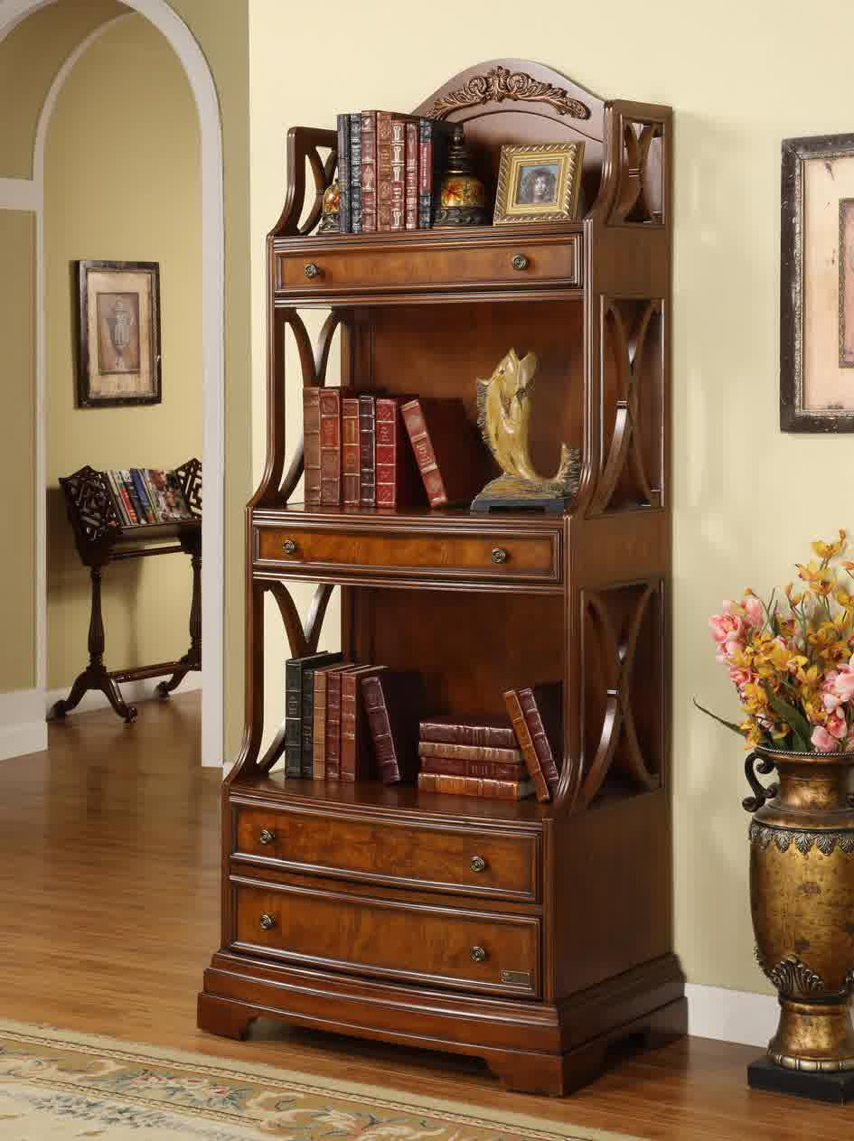 Image of: Solid Wood Bookcase Model