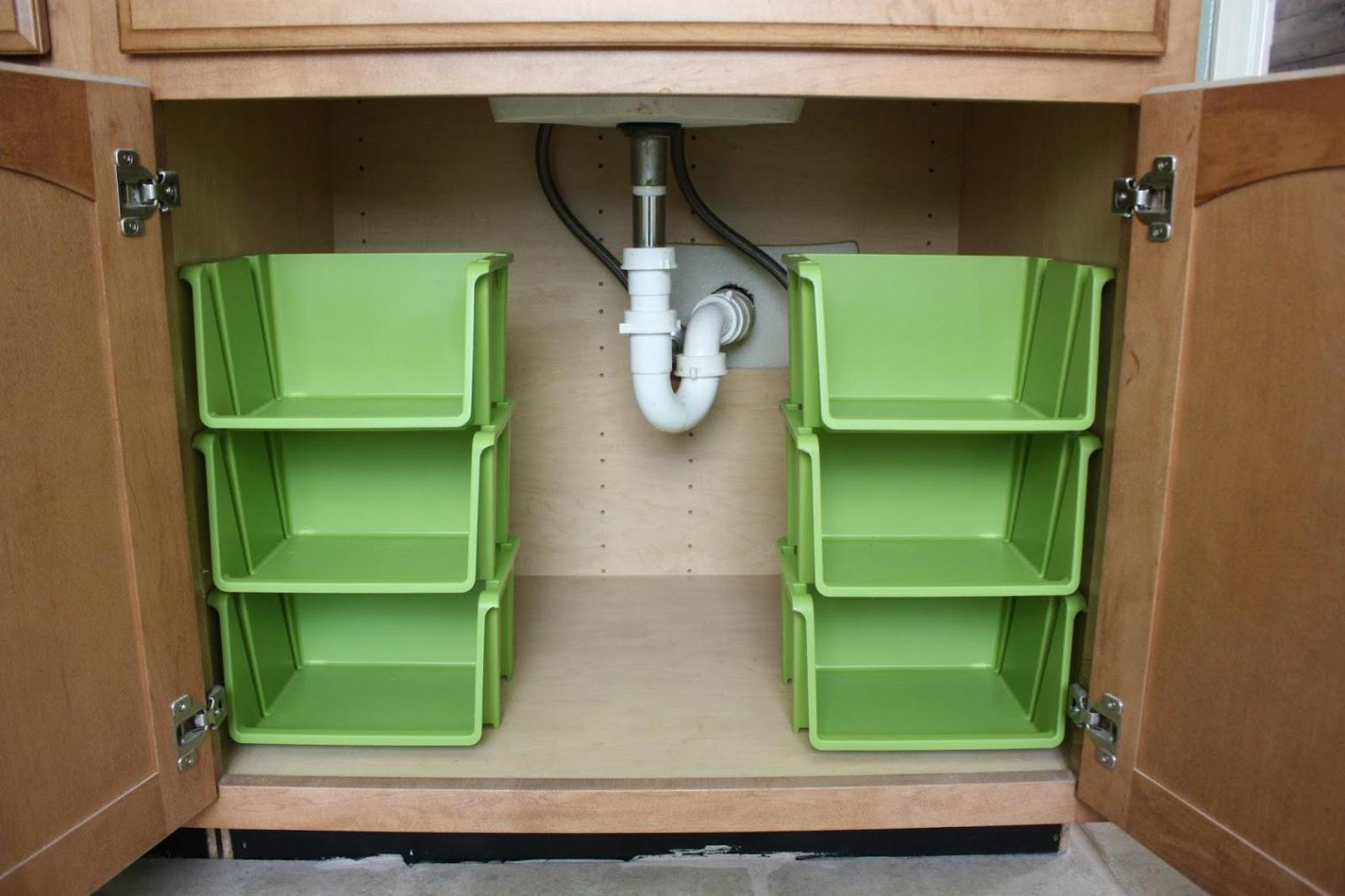 Image of: Stackable Organizer Bins