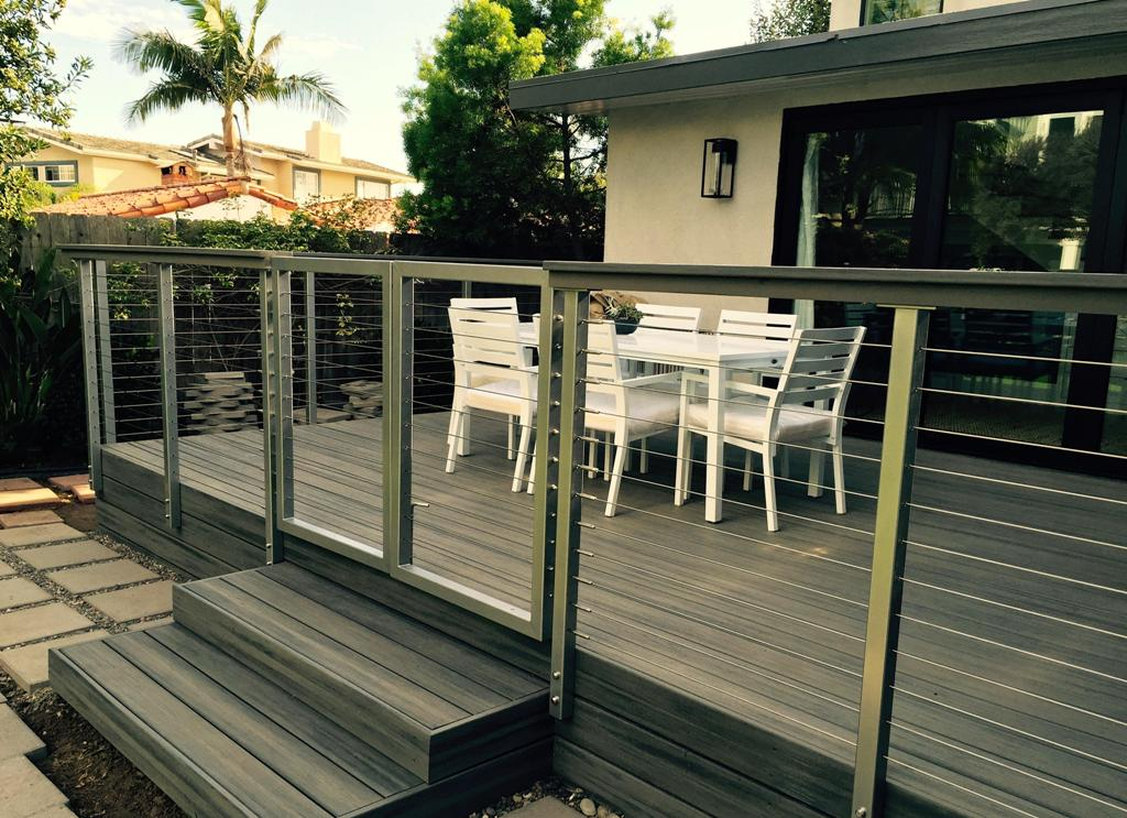 Image of: Stainless Steel Cable Railing Gate